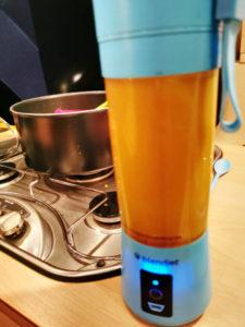 Kürbis Suppe mixen, Rezept aus der Van Küche von Vroni's Vanlife