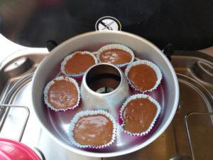 Muffins vor dem Backen aus der Van Küche von Vroni's Vanlife