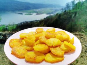 Schmelzkartoffen mit Aussicht, Rezept von Vroni's Vanlife
