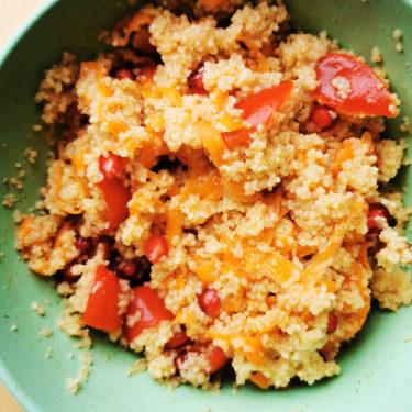 CousCous Salat mit Karotten und Cherry Tomaten, Rezept aus Vroni's Vanlife